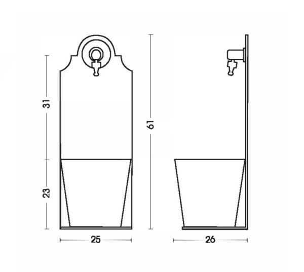 scheda tecnica fontana 42-PRX