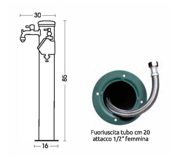 scheda tecnica fontana 42-ARRA 2